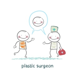 plastic surgeon says to the patients facial vector image