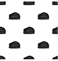 Popocatepetl icon in black style isolated on white vector