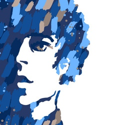 portrait of young man vector image