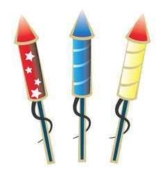 Ready to launch firework rockets vector