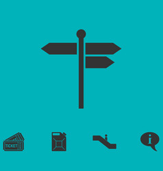 signpost icon flat vector image