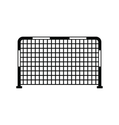 Soccer goal black simple icon vector image