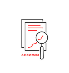 thin line assessment auditing icon vector image
