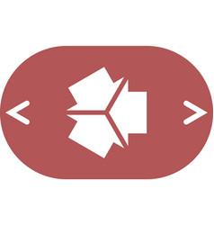 three arrows facing each other icon vector image