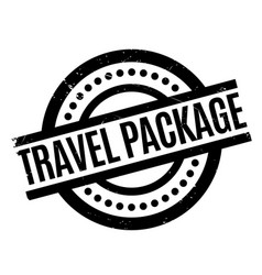Travel package rubber stamp vector
