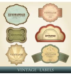 vintage labels set - vector image vector image