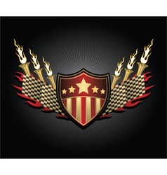 vintage race emblem vector image