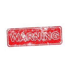 warning red grunge rubber stamp vector image vector image