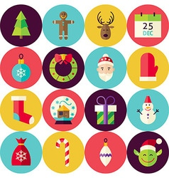 White Flat Merry Christmas Seamless Pattern Set vector image