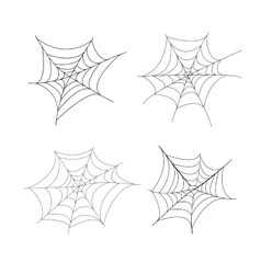 Set of 4 spider web isolated vector