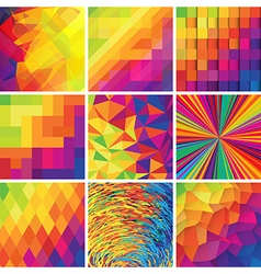 Colorful abstract backgrounds set of design vector