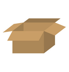 Brown box open icon vector