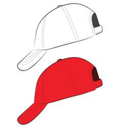 Red baseball cap vector