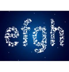 Snow letters over snow background vector