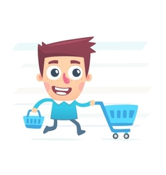Big plans for shopping vector
