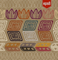 Seamless pattern with abstract ethnic elements vector