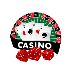 Casino emblem or badge vector