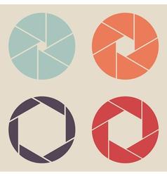 shutter icon set vector image