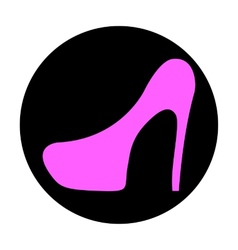 Icon shoes with heels vector