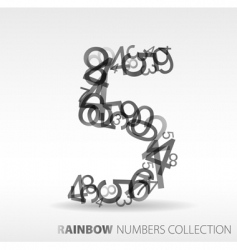 Number five design elements vector