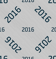 Happy new year 2016 sign icon calendar date vector
