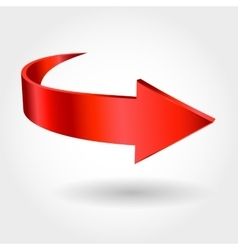 Red arrow vector