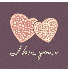 Valentines day greeting card background vector