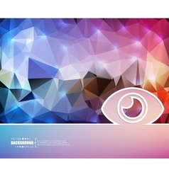 Creative eye art template vector