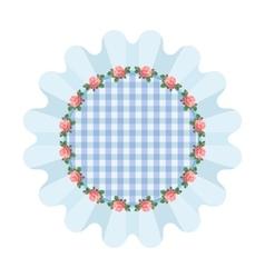 Blue napkin style shabby vector