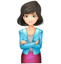 A businesswoman wearing a blue blazer vector image vector image