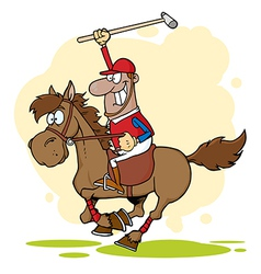 African American Polo Player vector image vector image