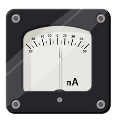 Ammeter icon cartoon style vector