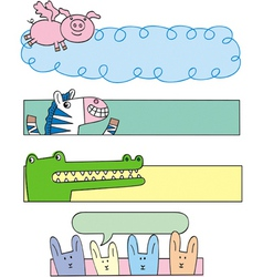 animal banners vector image