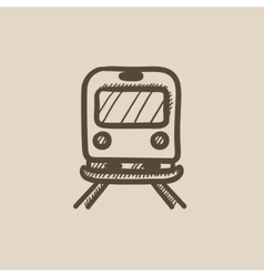 Back view of train sketch icon vector