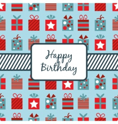 Birthday wrapping vector