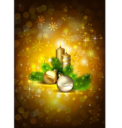 brown Christmas background vector image vector image