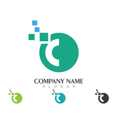 c letter logo business template vector image