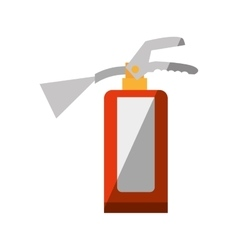 Cartoon fire extinguisher safety security vector