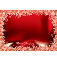 Christmas flake vector image vector image