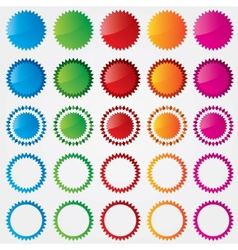 Colorful price tags collection sale vector image