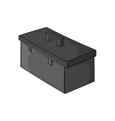 Construction suitcase icon black monochrome style vector image