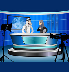 detailed of muslim tv vector image vector image