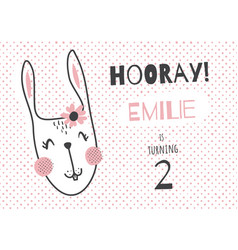 emilie bunny vector image
