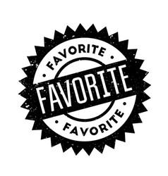 Favorite rubber stamp vector