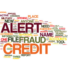 Fraud alert a new tool to protect your credit vector