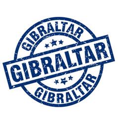 Gibraltar blue round grunge stamp vector