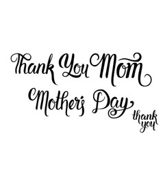 happy mother day text holiday greeting card vector image