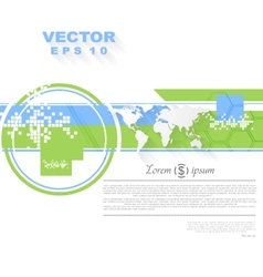 Minimal flat tech bright background vector
