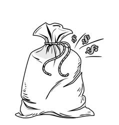 Money sack isolated icon vector