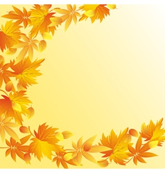 Nature autumn background with leaf fall vector image vector image